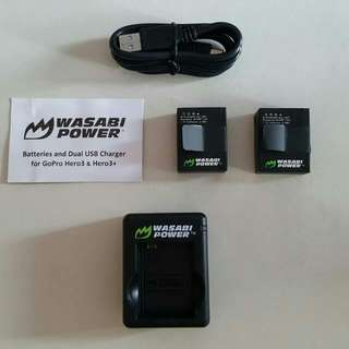 2016 Edition GoPro Hero 3/3+ Battery Kit By Wasabi Power