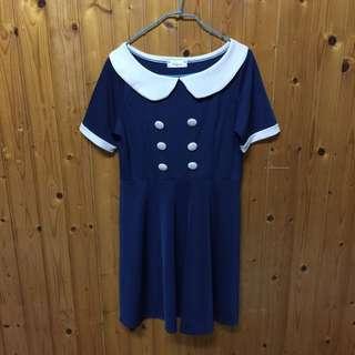 🚚 藍色短袖洋裝👗