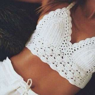 <PO> Halter Neck Knitted Top