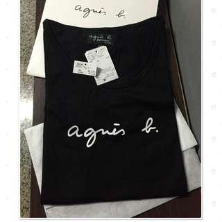 日本代購 Anges.b 男女款黑色經典款T恤 (含國際運費)