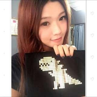 日本代購 agnes b. 燙金小恐龍 男款T恤