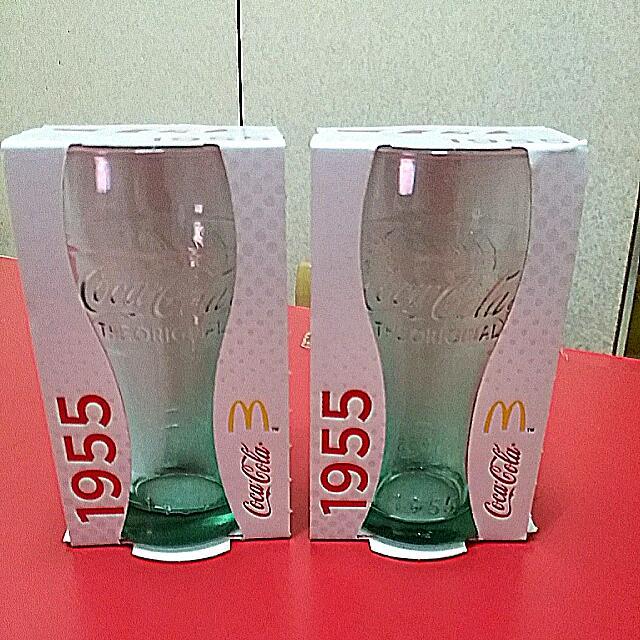 麥當勞,可口可樂1955限量杯,淡綠色×2