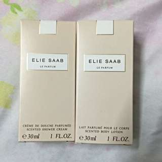 Brand New Elie Saab Scented Shower Cream & Body Lotion Set