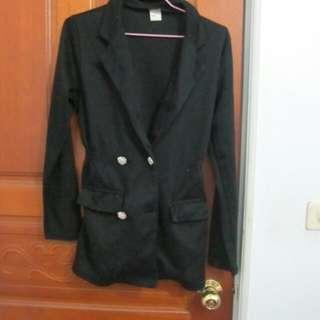 西裝縮腰外套