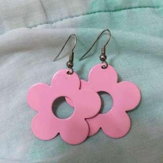 🌸粉紅小花耳環