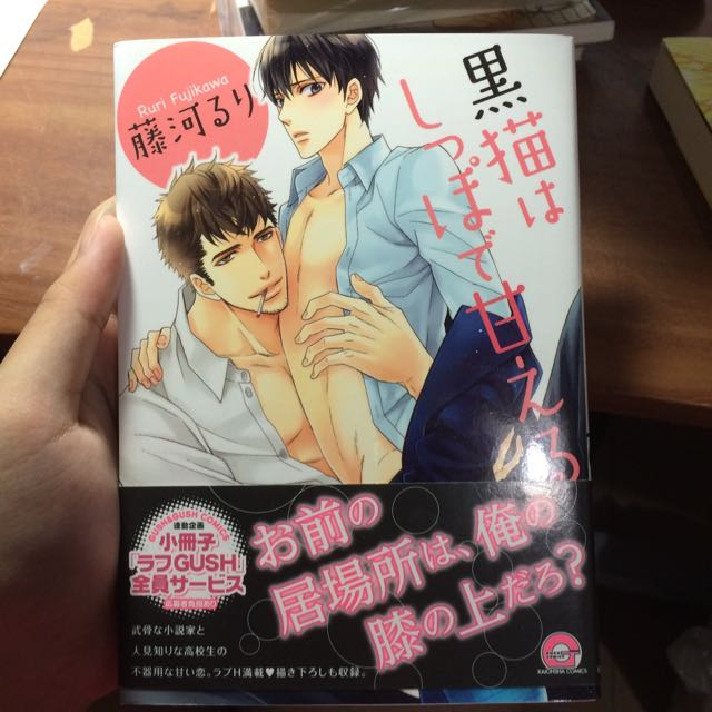 降⬇️ 日本帶回日文漫畫 黑貓はしつぼで甘える 全新