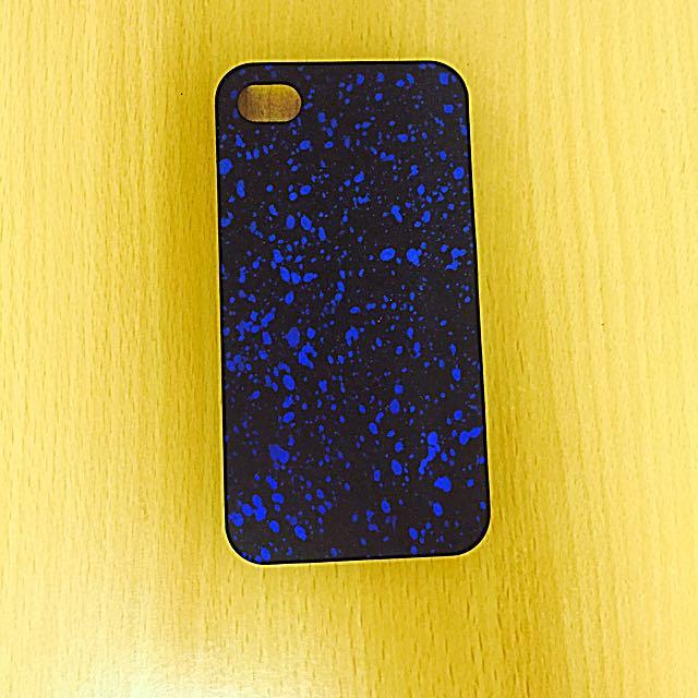 ✨iPhone4/4s藍色潑漆手機殼