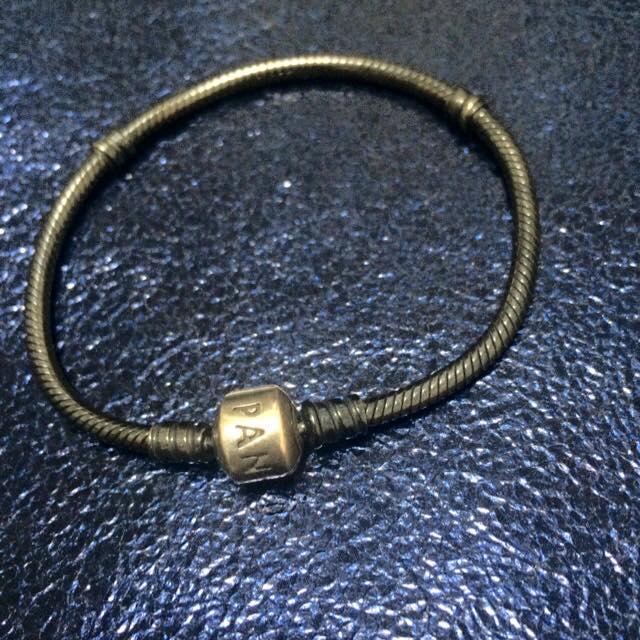 Pandora 潘朵拉 蛇鍊 黑銀 (氧化銀)