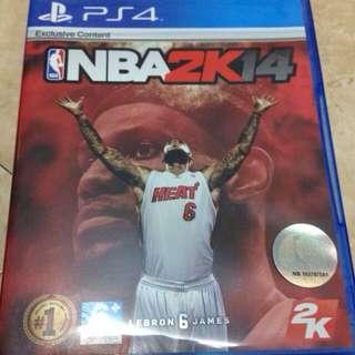 PS4 NBA 2K14 二手 狀態良好