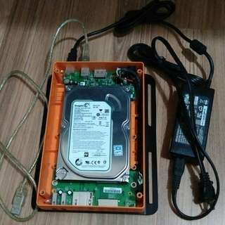 外接硬碟盒(含500G SATA硬碟)