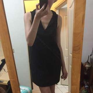 專櫃mango 黑色V領 洋裝