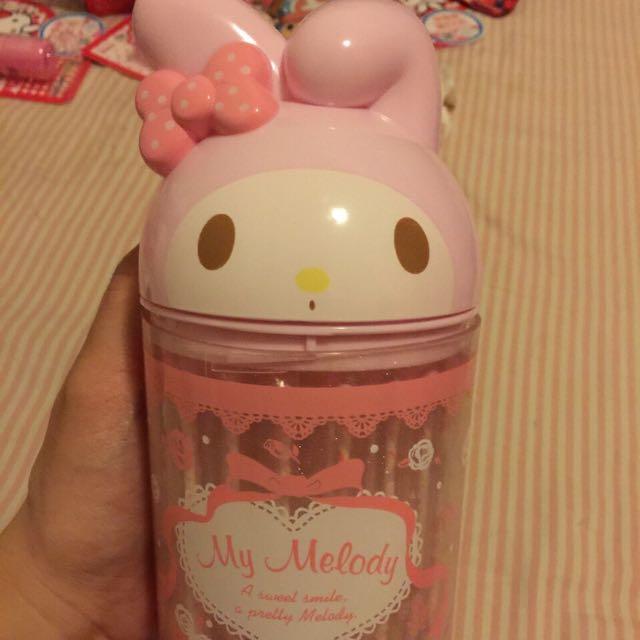日本帶回~超大美樂蒂造型掀開式棉花棒罐《內含造型棉花棒60支》