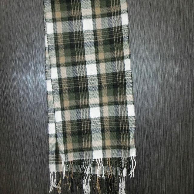 全新綠色格子圍巾