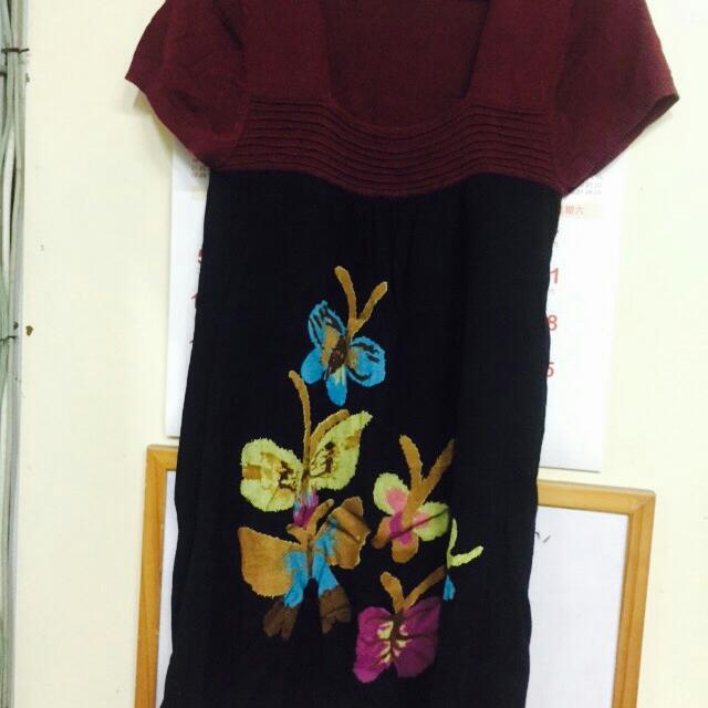 韓版針織長版上衣