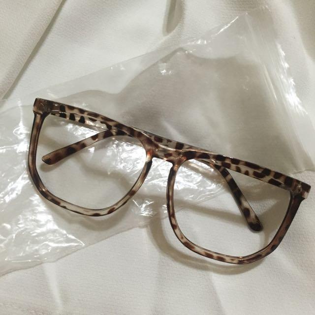 保留_無鏡片眼鏡👉豹紋