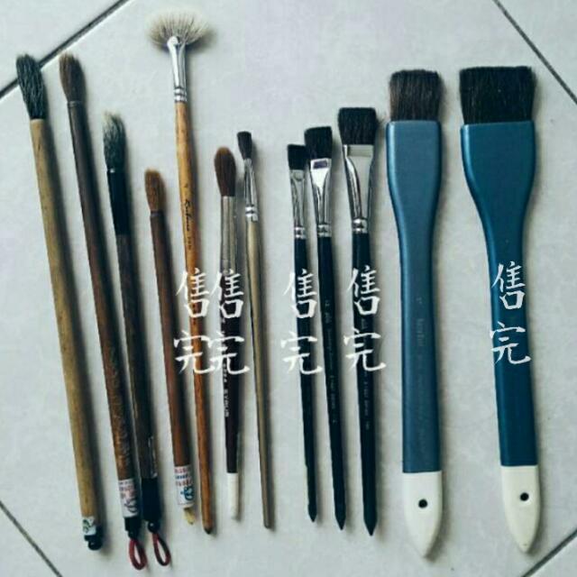 高中術科考試用 排筆 水彩筆 毛筆