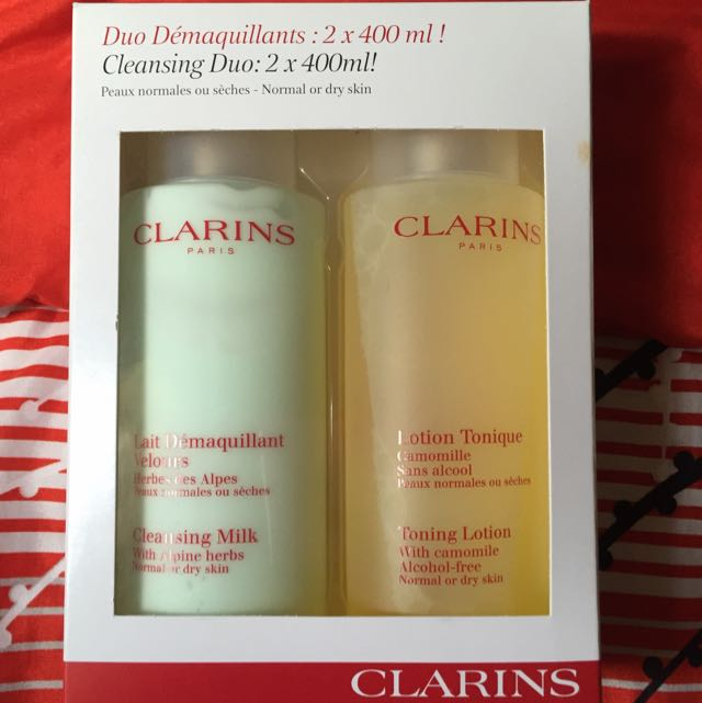 Authentic Clarins Duo Cleansing Milk And Toning Lotion