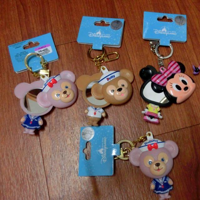 米奇/達菲duffy 鏡子 香港迪士尼購買