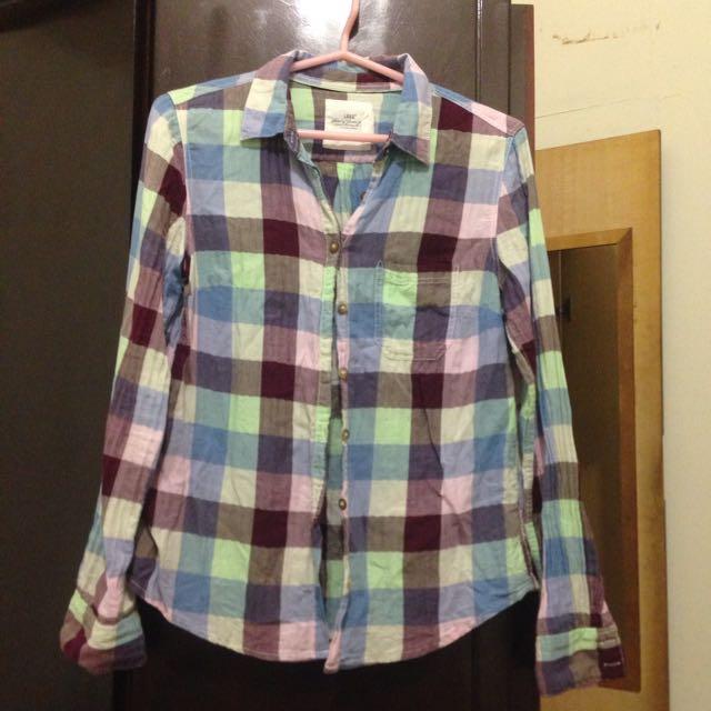 H&M格紋襯衫