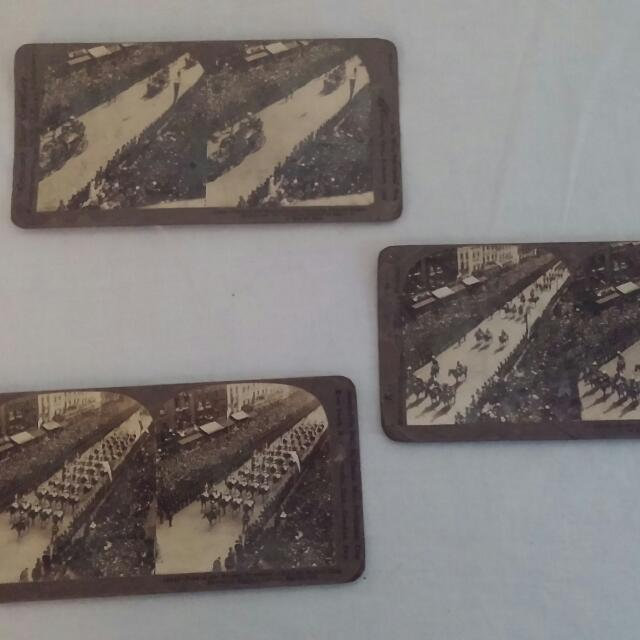 King Edward Funeral Stereoscope Slides