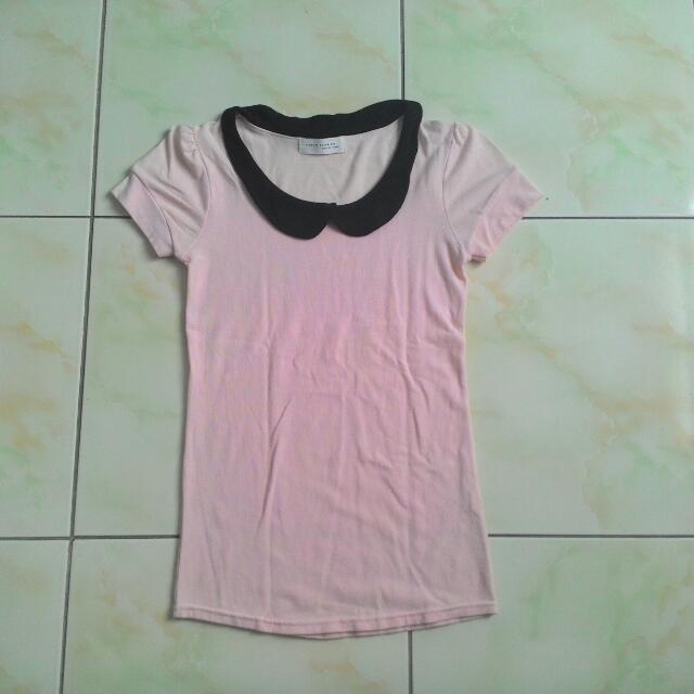 粉紅色OL氣質上衣