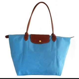 Longchamp長柄水藍