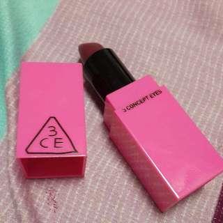 (含運)3CE 粉紅限定唇膏