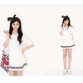 White Skirt With Stripes