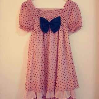 粉色雪紡洋裝💕