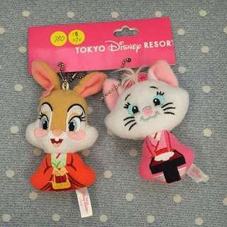 日本迪士尼樂園吊飾三隻ㄧ組(已售出1隻)單賣ㄧ隻270$  後有別針!
