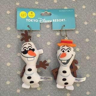 日本迪士尼樂園吊飾 三隻ㄧ組(已售出ㄧ隻)單賣ㄧ隻240$