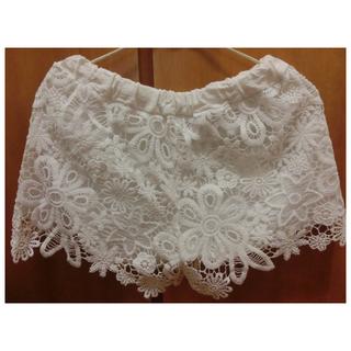 全新✨白色花褲