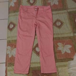 粉嫩糖果色系窄版顯瘦褲