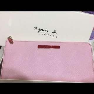 Agnes b. 粉紅長皮夾