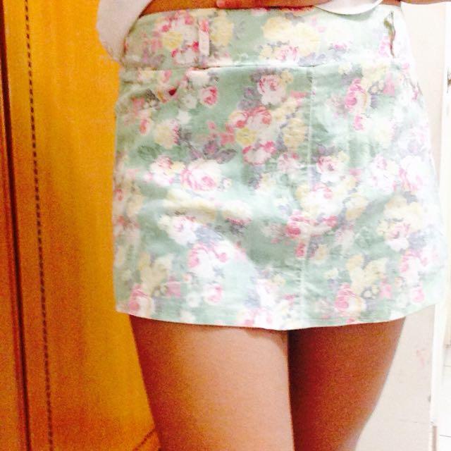 復古綠葉小褲裙✌️