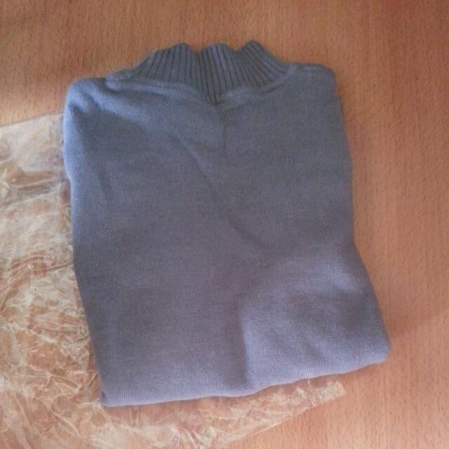 (全新)淺灰色素面毛衣