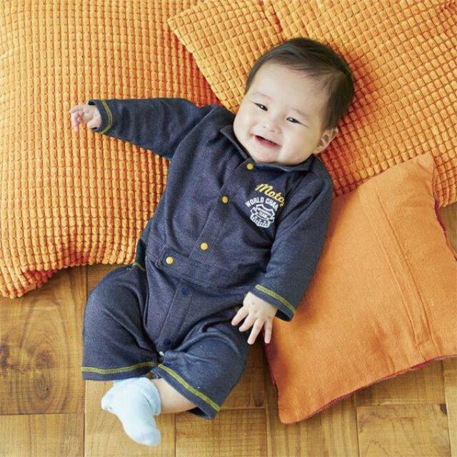 日本 好可愛好可愛~小朋友雜誌款 牛仔色調連身褲