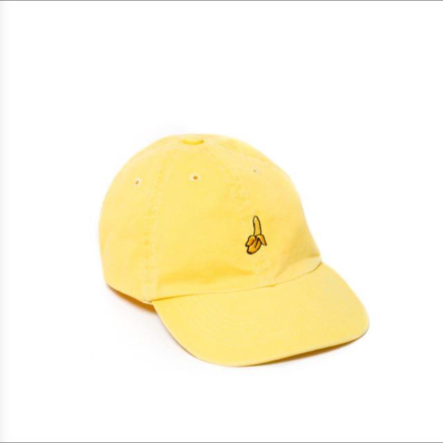 全新 ▪️ Unif Cap 香蕉黃帽 黃色 小帽 棒球帽