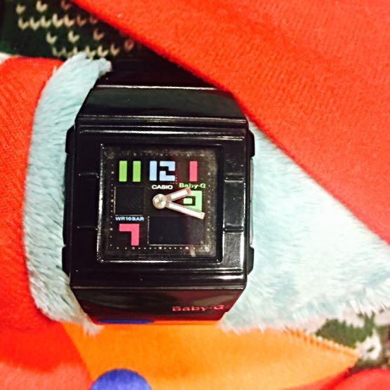 BabyG 手錶 流行 雜誌款 防水 黑色 很少使用 很新