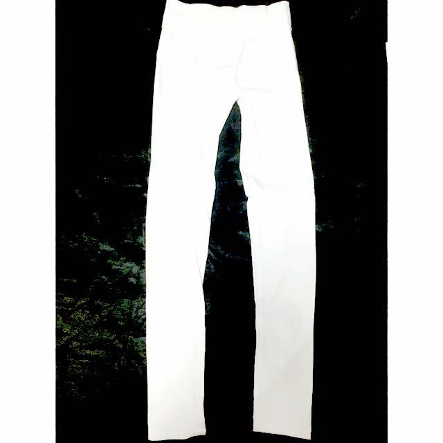 全新💫彈性白色長褲(F)
