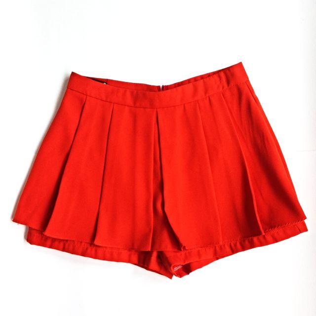 Hot Red Skorts