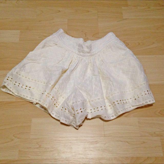 Lowrys Farm 米色褲裙/二手/9成5新