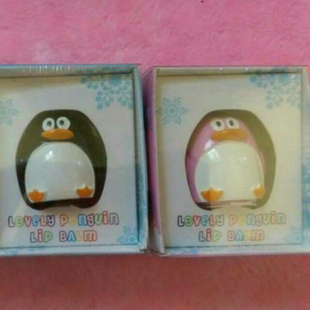 (新品)SWEETY DOUGHNUT 護唇膏 可愛企鵝護唇膏
