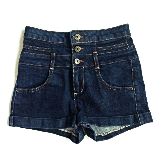TOPSHOP MOTO Denim High Waisted Hot Pants