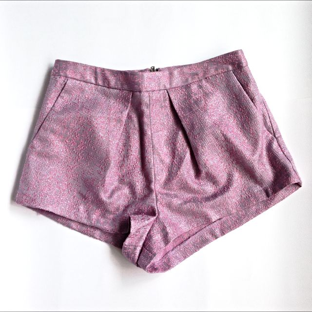 TOPSHOP Pink Shimmer Hot Pants