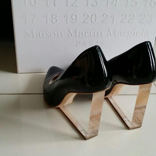 Worn Once H&M Maison Martin Margiela Transparent Wedges Size 39 In Black