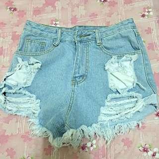 🎉牛仔短褲(淡藍)
