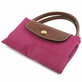 <現貨+預購優惠>正品 Longchamp S號短柄 玫紅色