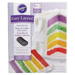 BN Wilton 2105-0112 Easy Layers! 5-Piece Cake Pan Set, 6-Inch
