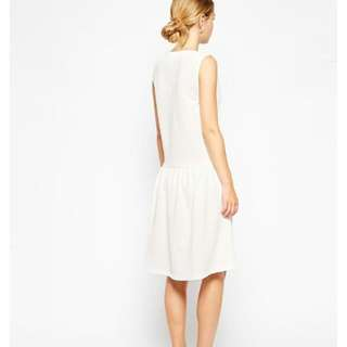Asos Texture Drop Waist Shift Dress, Brand New, White, Size 8 Uk, $25